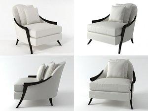 3D cala silhouette lounge chair model