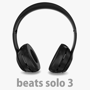 apple beats solo3 wireless 3D model