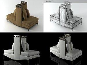 3D loveseat model