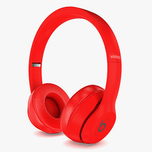 3D apple beats solo3 wireless