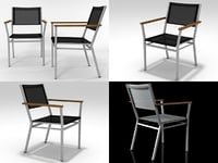 3D model equinox armchair