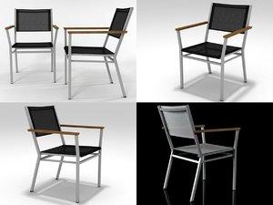 3D model equinox armchair