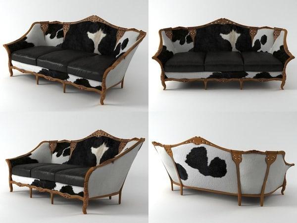 3D model spanish sofa n