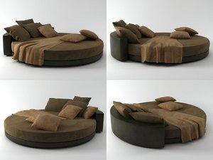 glamour bed 3D model