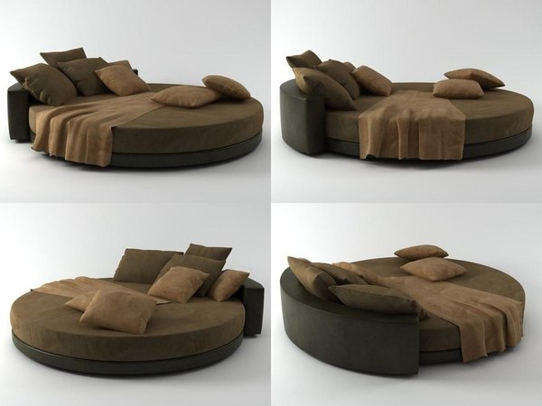 glamour bed 3D model