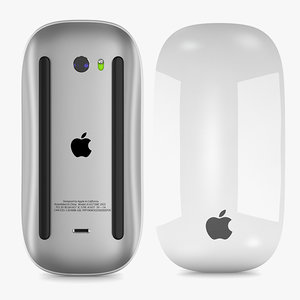 3D apple magic mouse 2 model