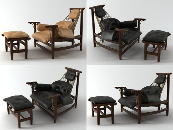jangada lounge chair otoman model