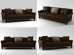 3D suited sofa model