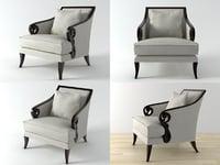 scroll armchair 3D