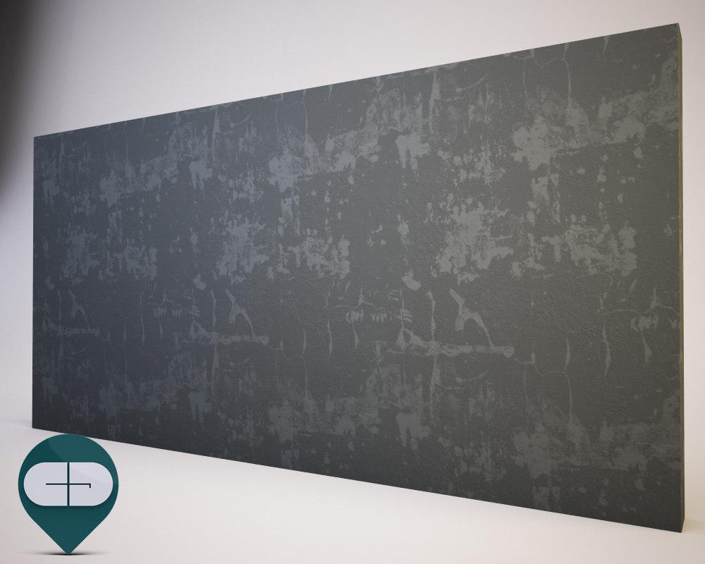 3D plaster wall worn model