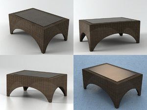 savannah small table 3D
