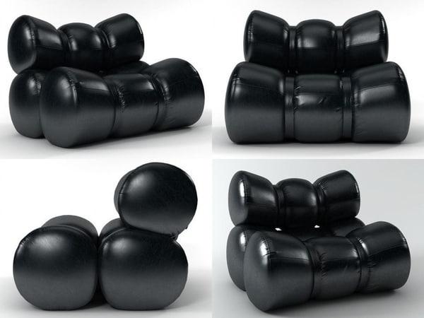 3D fardos sofa