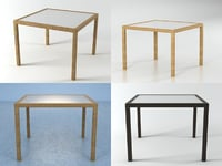 3D panama dining table 100 model