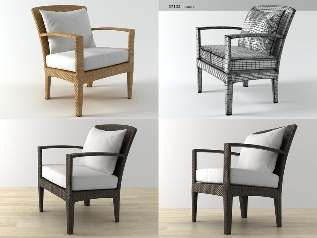 3D panama lounge chair
