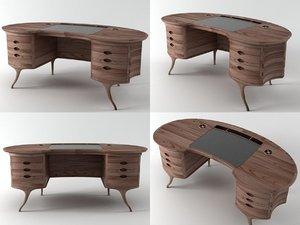 3D bean desk model