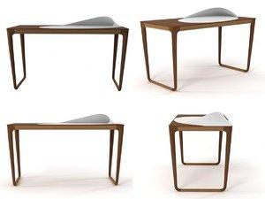 sunday morning writing desk 3D model