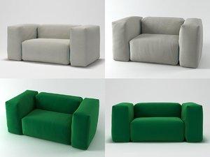 3D superoblong sofa