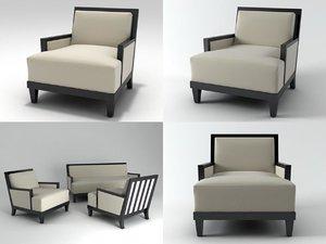 carmel armchair 3D