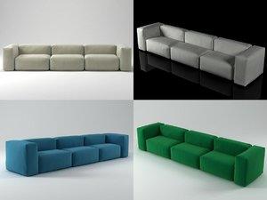 3 seater superoblong sofa 3D model