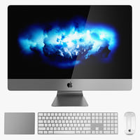 apple imac set pro 3D model