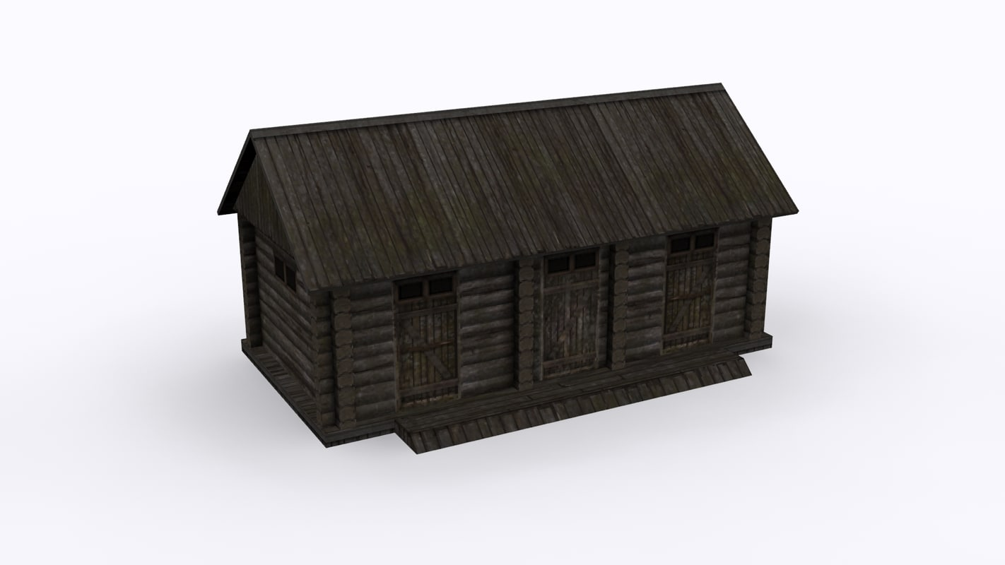 rural barn fundament 3D