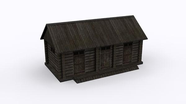 rural barn fundament 3D