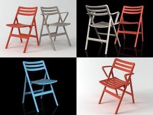 3D folding air-chair model