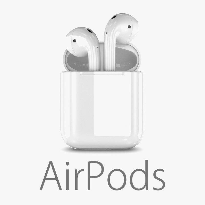 3D apple airpods