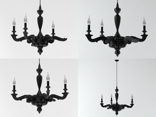 smoke chandelier 3D model