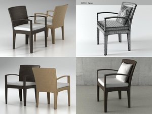 3D panama armchair model