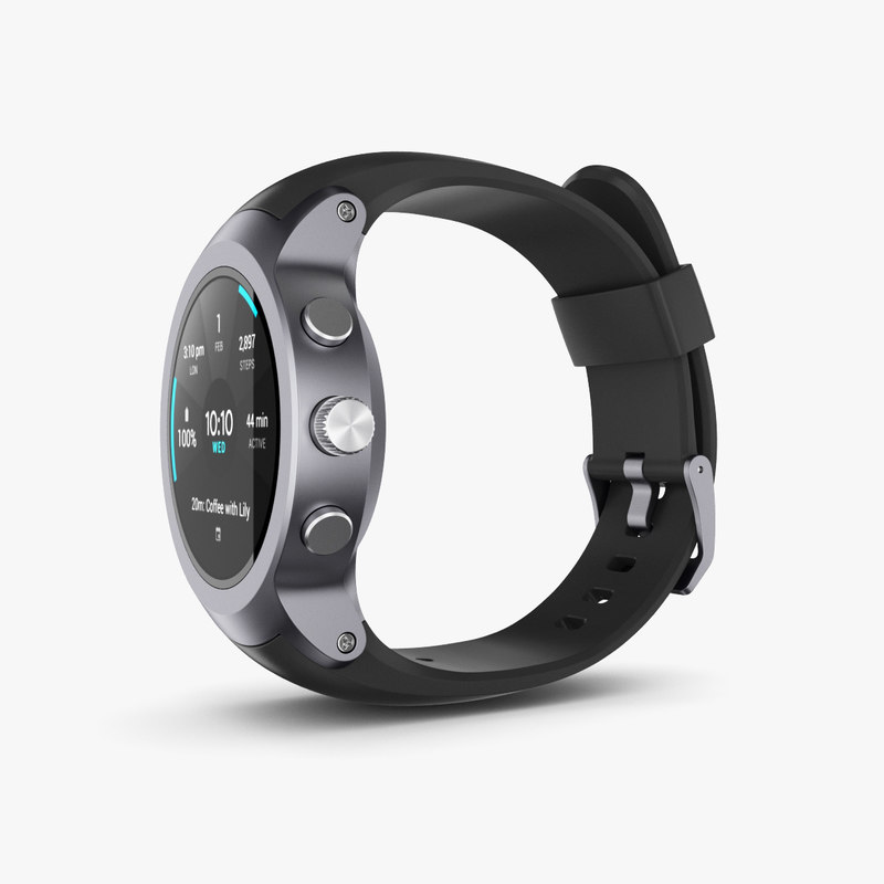 3D lg watch sport model