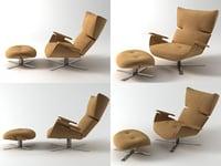 paulista armchair ottoman model