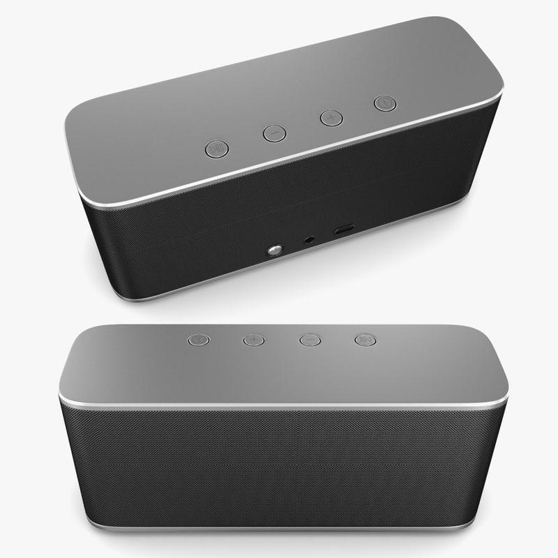 generic wireless box speaker 3D