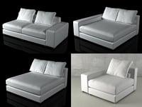 3D jagger sofasystem model