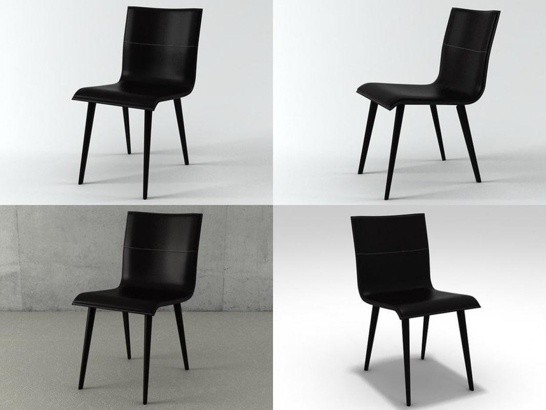 3D lazurite chair model