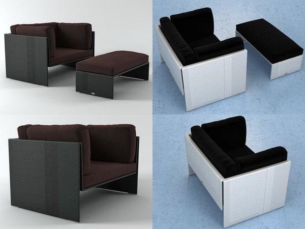 slim line lounge chair model
