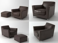 rive droite seating 3D model