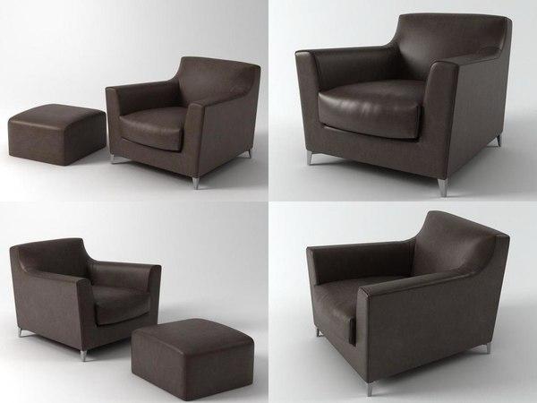 rive droite seating 3D model