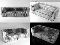 3D inntil 2-seater sofa model