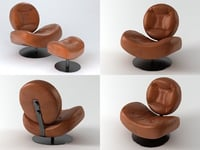 kudasay armchair 3D model