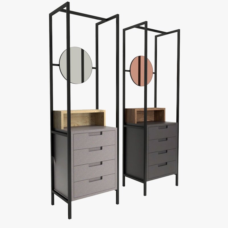 mannmade mirror drawers 3D model