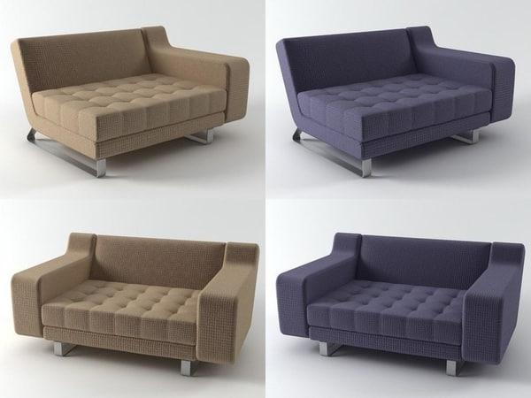 3D armchair 01