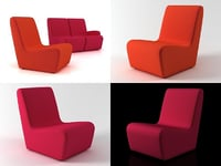 hm55 chair 3D model