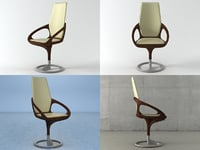 3D manta armchair model