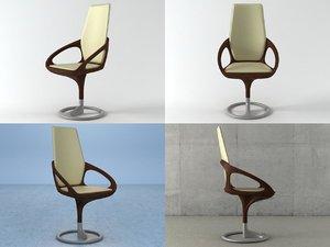 3D manta armchair model