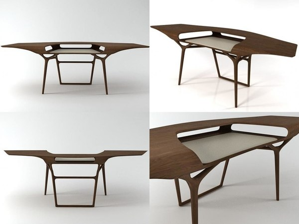 3D manta desk