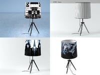 3D graf table lamp model