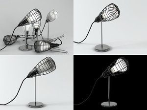 cage table lamp 3D model