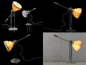 glas table lamp 3D model