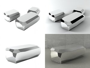 rock tables 3D model